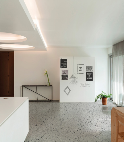 Room featuring the Marmette Mix tile on the floor