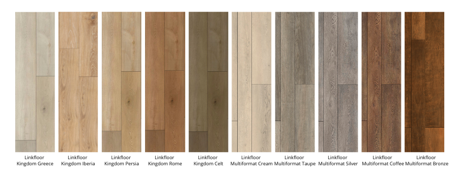 Palette of colours of the Kingdom and Multiformat collections of Linkfloor by L'antic Colonial Porcelanosa Grupo