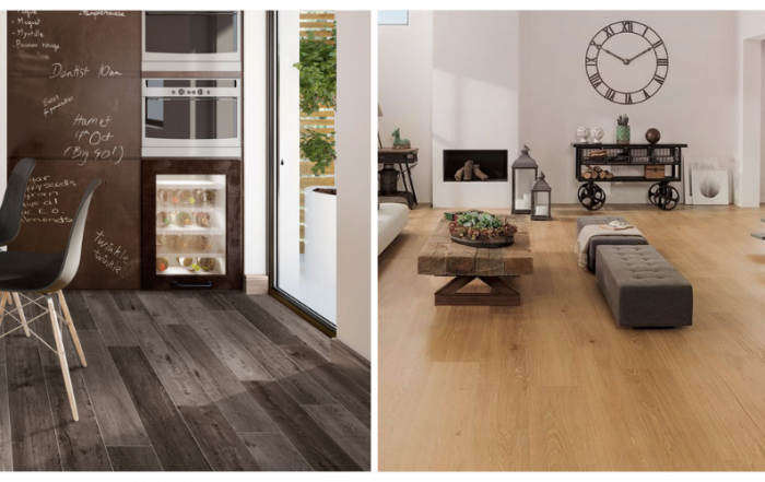 Wood look floor tiles for residential and commercial spaces