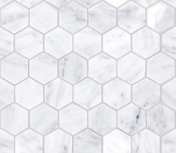 ESSENTIAL HEXAGON CARRARA POLISHED